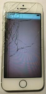 [BROKEN] iPhone 5s 16GB Silver (Verizon) A1533 Fast Ship GSM Used LCD Issue