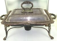 .EARLY 1900s / QUALITY / HEAVY SET ENGLISH MADE E.P.C. FOOD WARMER + BURNER