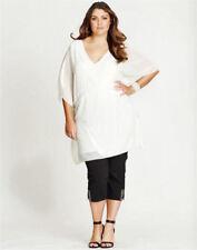 Polyester Kimono Sleeve Formal Tops for Women