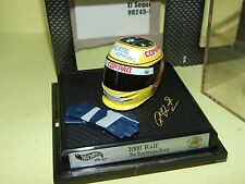CASQUE 2000 R. SCHUMACHER HOTWHEELS 1:8