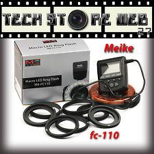 Meike Mk-FC110  ILLUMINATORE FUNZIONE FLASH ANULARE LED RING NIKON CANON PENTAX
