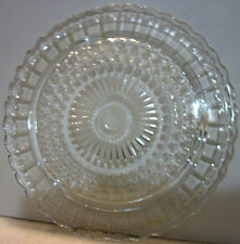 GORGEOUS Clear GLASS Footed CAKE COOKIE Serving PLATE Tray Scalloped Decorative
