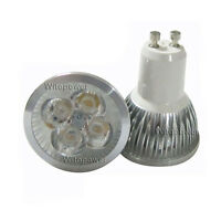 10pcs 4W 4X1W GU10 LED Lamp Cool White Light Bulb High Power Spotlight 85-265V
