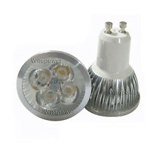 10pcs 4W 4X1W GU10 LED Lamp Cool White Light Bulb High Power Spotlight 85-265V