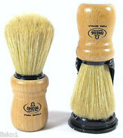 Marvy Omega #5 Shave Brush Wood Handle w/stand
