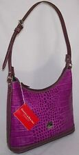Dooney & Bourke ~ Bordeaux Leather Croc Large Hobo  NWT