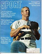 1969 Sport Magazine baseball, Mickey Mantle, New York Yankees ~Bobby Orr FAIR