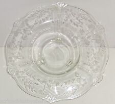 Glass Centerpiece Bowl Footed Leaves Serving Fruit Clear Design