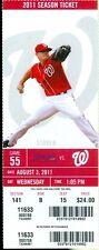 2011 Nationals vs Braves Ticket: Dan Uggla HR extends hitting streak to 25 games