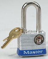 "MASTER LOCK Padlock 1.5"" Double Locking Laminated Steel 2 Keys Safety 3DLF NEW!!"