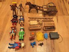Playmobil * Western * Cowboys * Ox Cart Custom * Farm Accessories * Lot *