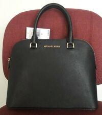 Michael Kors Black Leather Cindy Large Dome Satchel Bag 38s9xcps3l