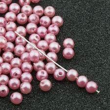 4mm Pink Acrylic Round Faux Pearl Beads Vintage Japanese 120pcs 10304005