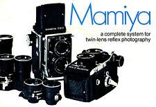 1970 MAMIYA C220 & C330 TWIN LENS REFLEX CAMERA SYSTEM BROCHURE -MAMIYA