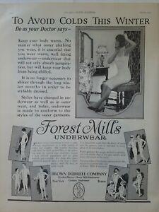 1925 Brown Durrell Forest Mills women's men's children's underwear vintage ad