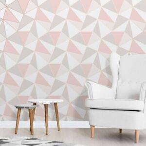 Fine Decor Wallcoverings FD41993 Apex Geo Sidewall Wallpaper, Rose Gold (Sealed)