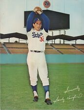 1965 MLB Baseball Los Angeles Dodgers Color Photo of Pitcher Sandy Koufax