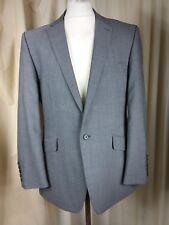 Alexandre Savile Row 100% Wool Business Grey Suit C42R W37 L32