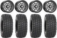 "Sedona Rift 14"" Wheels Grey 30"" XCR350 Tires Can-Am Maverick X3"
