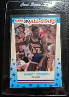 1989 FLEER STICKER #5 MAGIC JOHNSON LOS ANGELES LAKERS HOF MINT OC