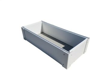 Raised Garden Bed 12 in. x 26 in. Expandable Vinyl in Smooth Gloss White Finish