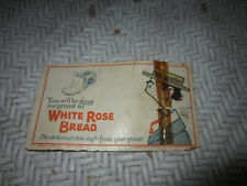 WHITE ROSE BREAD ADVERTISING CARD 50's or 60's -COLOR- VINTAGE