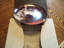"Vintage Knowles Norman Rockwell ""The Gourmet"" Collector Plate In Box"