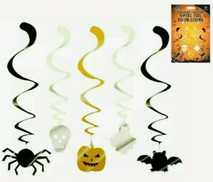 Halloween Hanging Swirl Decoration 5 Pattern Ceiling Decoration Party 10 pack