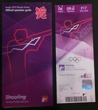 LONDON 2012 TICKET SHOOTING ITALY GOLD 06AUG PLUS SPECTATOR GUIDE *MINT*