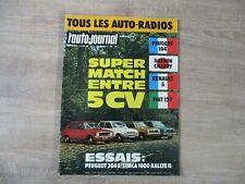 L'AUTO JOURNAL N°21 DECEMBRE 1972 SUPER MATCH ENTRE 5 CV