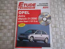 ETUDE TECHNIQUE ELECTRICITE ELECTRONIQUE OPEL ASTRA DIESEL 1.7 DTi DEPUIS 2000
