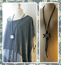 BNWT, ARTY, QUIRKY, LAGENLOOK, STATEMENT, BLACK RUBBER, GEOMETRIC, LONG NECKLACE
