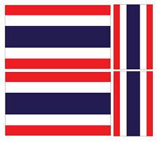 4 X THAI THAILAND FLAG VINYL CAR VAN IPAD LAPTOP STICKER