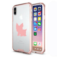 For Apple iPhone X XS Max XR Clear Shockproof Bumper Hard Case Cover Yorkie