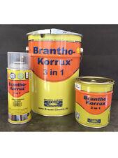Brantho Korrux 3in1 Rostschutzfarbe Metallschutz - Alu+Weiss+Schwarz+Rotbraun