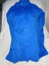 SOUTHPOLE Long Sleeve Blue Suede-feel Button Front Shirt sz XXL
