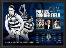 Patrick Dangerfield 2016 Brownlow Medal Winner Signed OFFICIAL AFL Print Framed