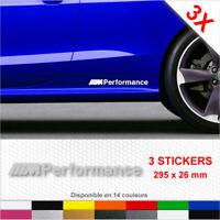 Sticker M PERFORMANCE Bas de Caisse Autocollants Adhésifs 3 stickers BMW Voiture