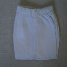 Vintage Cotton Sports Shorts - Age 4 Years - White - Elasticated Waist - New