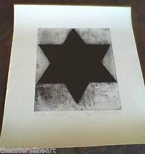MICHAEL DAVID 'A Jew in Germany' 1993 SIGNED Etching Print Ltd. Ed. Judaica Star