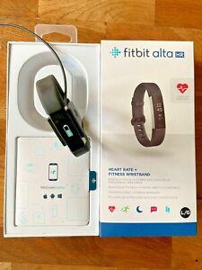 Montre connectée FITBIT Alta HR noir Sport bracelet L/G en très bon état