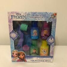 Disney Frozen 7 Piece Bathtub Fingerpaint Bath Paint Set 4 Mess-Free Soap Paints