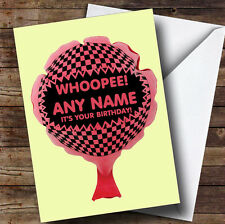 Whoopee Cushion Funny Personalised Birthday Greetings Card