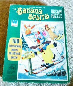 VINTAGE 1970 Hana-Barbera BANANA SPLITS 100 Pc Whitman Jigsaw Puzzle~Complete!