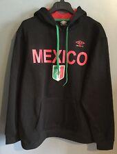 3a7e81c6fb Mexico Mens Black Hoodie Sweatshirt Size Large Green Red Umbro Mc20579n