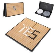 WeiQi Go Game Set Magnetic Pieces Folding W/ Board 28.5 x 14.5 10 Lines PVC CO