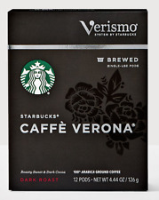 Starbucks caffe verona 144 verismo pods read description