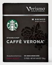 Starbucks caffe verona 96 verismo pods read description