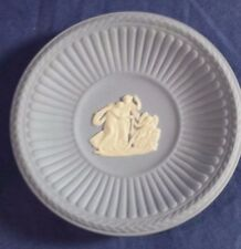 Small Wedgewood Blue Plate Miniature with Cameo Japserware