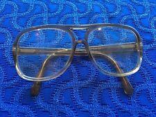 VTG Lenscrafters Eyeglasses Frames Mens Oversized Aviator GraY Fade Plastic f1b1f78bcc